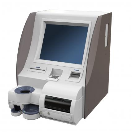 Desktop type reception  Automatic checkout machine